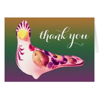 Customizable Text Exotic Bird, Multicolored Card