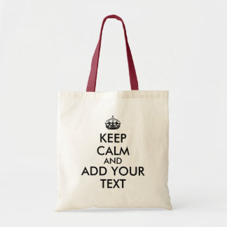 Customizable Text Keep Calm Shopping Bags Template