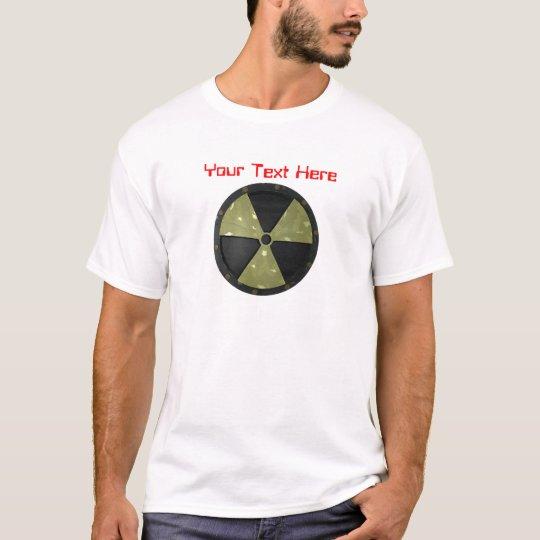 Customizable Text Radioactive Warning Symbol T-Shirt