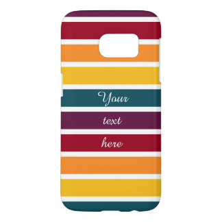 Customizable Text Sunset Stripes Samsung Galaxy S7 Case