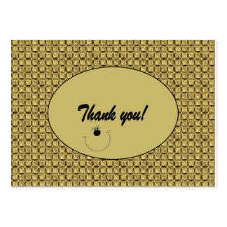 "Customizable ""Thank you"" Card / Tag (100) Pack Of Chubby Business Cards"
