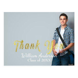 Customizable Thank You Graduation Postcard