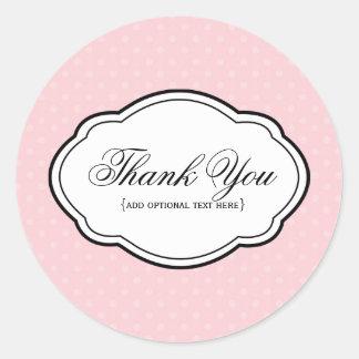 Customizable Thank You Sticker Label