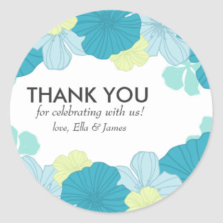 Customizable Thank You Sticker // Lush Tropics
