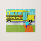 Customizable the Catching School Bus Puzzle
