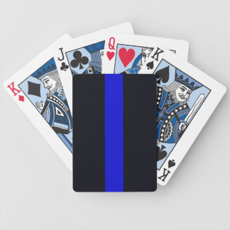 Customizable Thin Blue Line Playing Cards