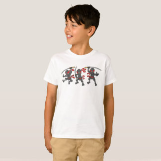Customizable Three Ninja Design T-Shirt