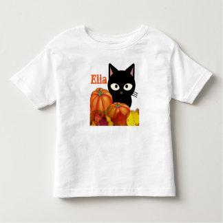 Customizable Toddler Halloween Black Cat T-Shirt