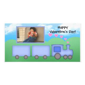 Customizable Train Card Photo Greeting Card