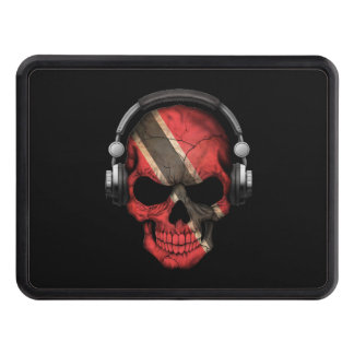 Customizable Trinidadian Dj Skull with Headphones Hitch Cover