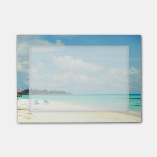 Customizable Tropical Island Paradise Sticky Notes