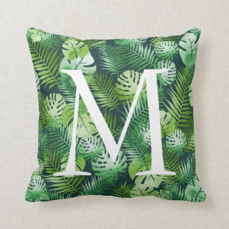 Customizable tropical leaf pillow