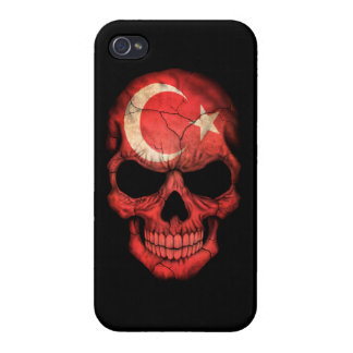 Customizable Turkish Flag Skull Cover For iPhone 4