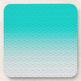 Customizable Turquoise White Ombre Background Beverage Coaster