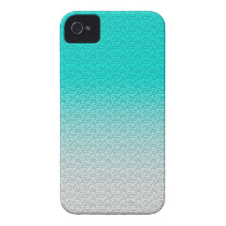 Customizable Turquoise White Ombre Background iPhone 4 Cover