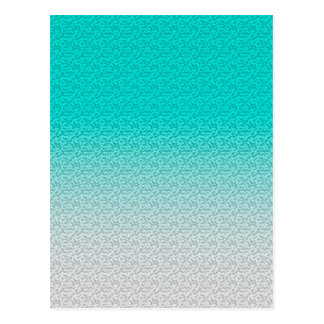 Customizable Turquoise White Ombre Background Postcard