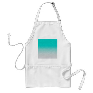 Customizable Turquoise White Ombre Background Standard Apron