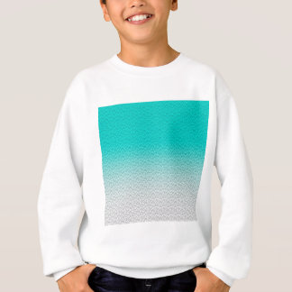 Customizable Turquoise White Ombre Background Sweatshirt