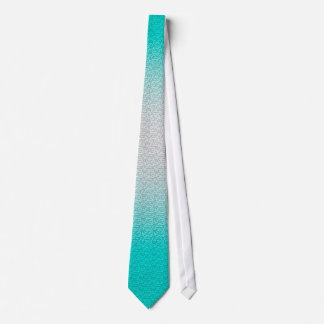 Customizable Turquoise White Ombre Background Tie