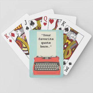 Customizable Typewriter Playing Cards