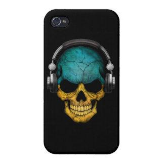 Customizable Ukrainian Dj Skull with Headphones iPhone 4/4S Cases