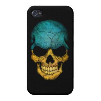 Customizable Ukrainian Flag Skull Cover For iPhone 4