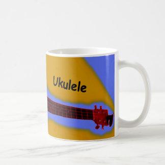 Customizable Ukulele Coffee Mug #2: Red on Melon