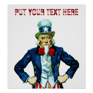 Customizable Uncle Sam ~ Vintage Poster
