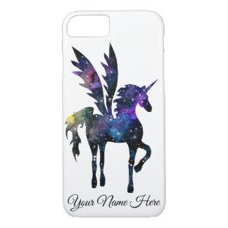 Customizable Unicorn Pegasus Watercolor Space Case