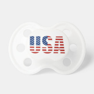 Customizable USA American Flag Baby Pacifier