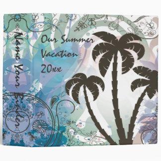Customizable Vacation Album Vinyl Binders