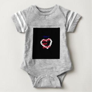 Customizable Vernon High School Candle Heart Baby Bodysuit