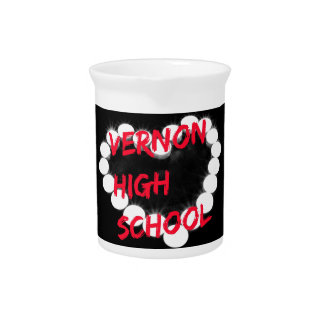 Customizable Vernon High School Candle Heart Beverage Pitcher