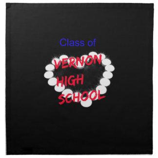 Customizable Vernon High School Candle Heart Napkin