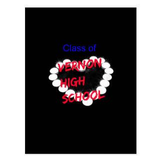 Customizable Vernon High School Candle Heart Postcard