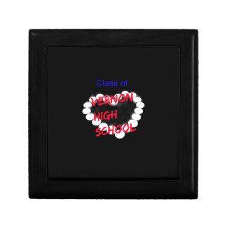 Customizable Vernon High School Candle Heart Trinket Boxes