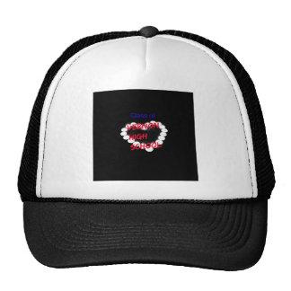 Customizable Vernon High School Candle Heart Trucker Hat