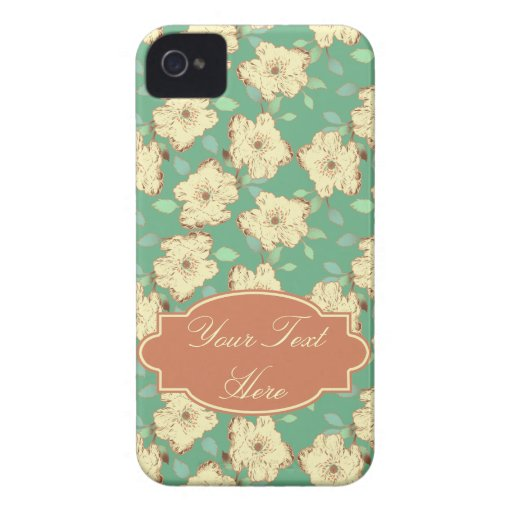 Customizable Victorian Floral iPhone Case iPhone 4 Cover