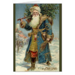 Customizable Victorian Santa Greeting Card