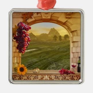 Customizable Vineyard (Wedding) Photo Ornament