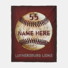 Customizable Vintage Baseball Team Blanket