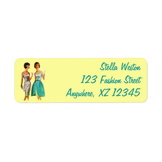 Customizable Vintage Fashion Return Address Label