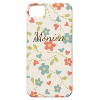 Customizable Vintage Flower Patterned Phone Case
