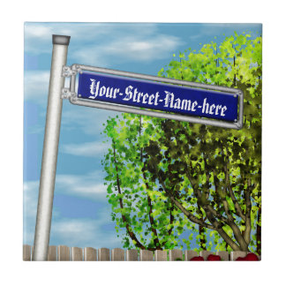 Customizable vintage German street sign - Tile