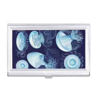 Customizable Vintage Haeckel Jellyfish Business Card Holder