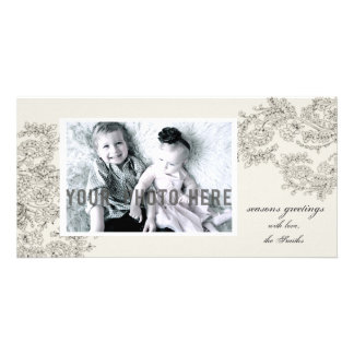 Customizable Vintage Inspired Christmas Card Photo Card Template
