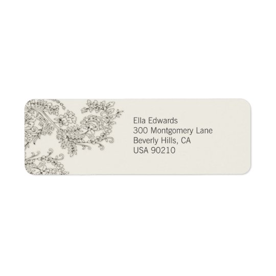 Customizable Vintage Inspired Return Address Label