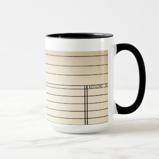 Customizable Vintage Library Book Card Coffee Mug