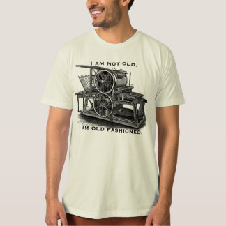 Customizable Vintage Printing Press T-Shirt