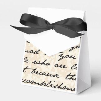 Customizable Vintage Script Handwriting Favor Box